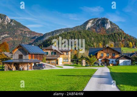 Le petit village de Altaussee, Styrie, Autriche, Europe. Banque D'Images