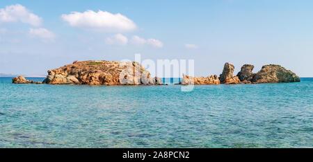 Panorama incroyable paysage de l'île de Crète. Banque D'Images