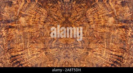 Nature afzelia burl wood en bois exotique à rayures beau modèle pour l'artisanat ou l'art abstrait texture background Banque D'Images