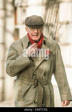 Westminster London, UK. 10. Homme politique conservateur Malcolm Rifkind vu à Dimanche du souvenir, qui a été ministre sous l'ancien premier ministre Margaret Thatcher et John Major, y compris le secrétaire d'État pour l'Écosse (1986-1990), Secrétaire de la Défense (1992-1995), et secrétaire aux Affaires étrangères (1995-1997).amer ghazzal /Alamy live News Banque D'Images