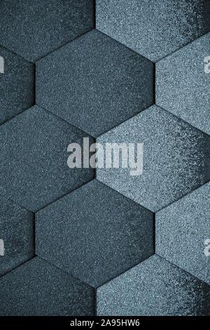 Les figures géométriques. Arrière-plan de tuile, la texture. Résumé fond gris foncé. Mur de briques. Banque D'Images
