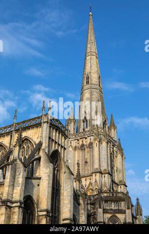 Vue de St Mary Redcliffe church dans la ville de Bristol en Angleterre.