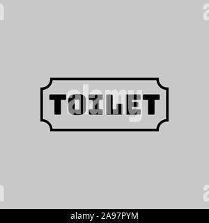 Toilettes signer vector illustration. Design plat, simplement pour logo, objets et icônes. De bain pour hommes, femmes, mesdames, messieurs. Banque D'Images