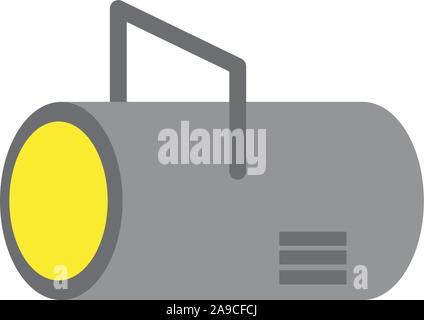 L'électricité de l'énergie télévision lumière softbox vecteur icône illustration