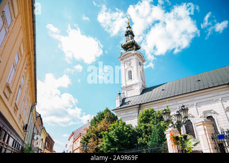 Saint George's Cathedral at old town à Novi Sad, Serbie Banque D'Images