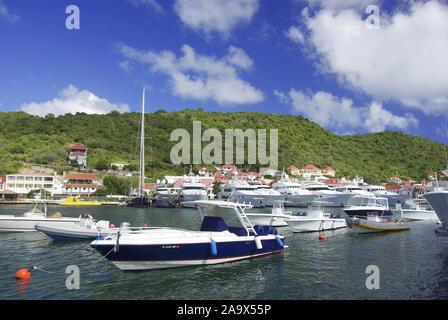 ; Franzoesiche Karibik Antillen, Saint Barthelemy, St Barth; Gustavia; Nobeljachten; Hafen