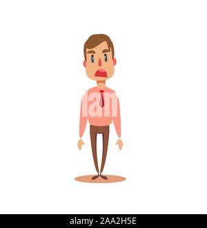 Frustré et déprimé voûté au businessman entrepreneur. Banque D'Images