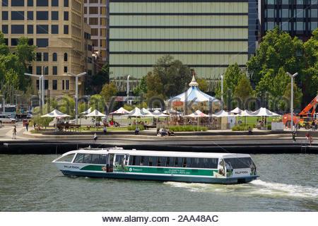 Le ferry pour Transperth quai à quai Elizabeth à Perth, Australie occidentale Banque D'Images