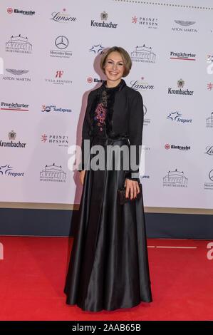 FRANKFURT AM MAIN, ALLEMAGNE - 09 novembre: Magdalena Neuner, au cours de la presse sportive allemande Ball (38e Sportpresseball) à l'Alte Oper, le 9 novembre, 20 Banque D'Images