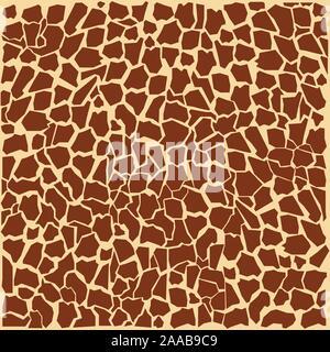 Girafe animal prints design vector illustration Banque D'Images