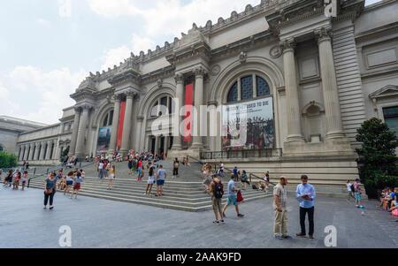 New York, USA - 20 août 2018: Le Metropolitan Museum of Art situé dans la ville de New York.
