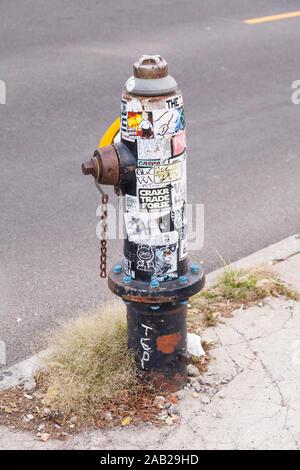 Poteau incendie, Coney Island, Brooklyn, New York , États-Unis d'Amérique.