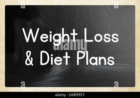 Perte de poids et des plans de régime. Banque D'Images