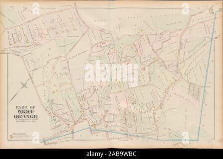 Le Comté d'Essex, Page de gauche: Plaque [Partie de West Orange]. E. Robinson (éditeur) Pidgeon, Roger H. (éditeur). Atlas de l'United States New Jersey