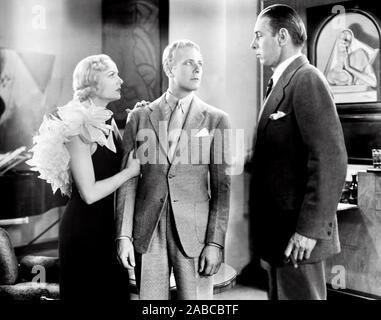 Bref moment, de gauche, Carole Lombard, Gene Raymond, Arthur Hohl, 1933
