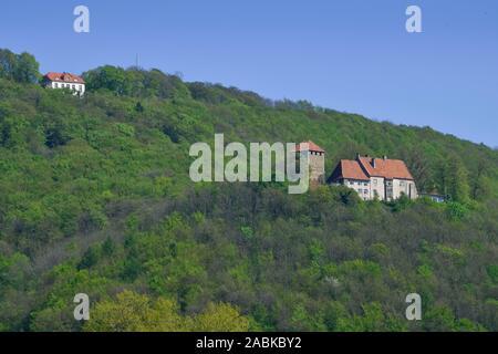 Paschenburg und Burg Schaumburg, Rinteln, Weserbergland, Niedersachsen, Deutschland