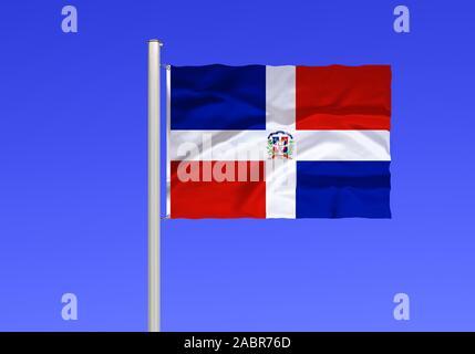 Flagge von Dominikanische Republik
