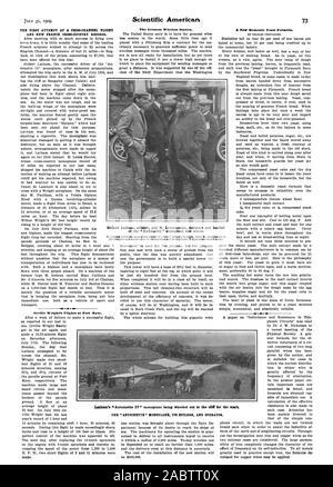 La première tentative de vol cross-canal ET DE NOUVEAUX DOSSIERS DE FOND FRANÇAIS. Mauvais 4 Orville Wright's Vols à Fort Myer.. La plus grande station sans fil. développé pour les fils de cuivre peuvent être appliquées. Hubert Latham aviator et M. LEVAVASSEUR concepteur et constructeur de l'Antoinette' et 'monoplan à moteur. L'un 'LA Latham '' son monoplan ANTOINETTE BUILDER ET L'opérateur., Scientific American, -1909-07-31
