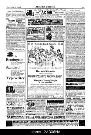 Après avoir été sur le marché cinq ans HENRY CAREY BAIRD & Co. et libraires éditeurs industriels importateurs 810 Noix de Philadelphie. l'un U. S. A. Popular Science Magazine mensuel le meilleur pour penser les gens. Le développement des industries de l'Amérique depuis l'époque de Christophe Colomb. Numéro unique 50c. abonnement annuel $5 le Remington Machine à écrire standard. Modèle et travail expérimental Gates Gates Pulvérisateur Rouleaux Cornish Rock et du minerai de fer 50 Disjoncteurs Gates travaille c ainsi. Clinton St. Chicago. PIPES MODERNE MAGIC L. MANASSE SS Madison Street Chicag Ill. logue cinq. Fi.DatusterChicage T. Banque D'Images