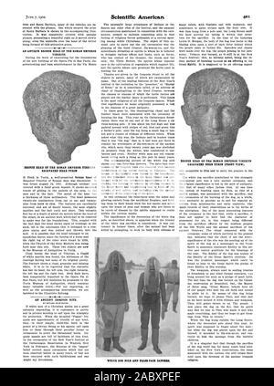 Pôle de White Dog et faux-face. danseurs, Scientific American, 1902-06-07 Banque D'Images