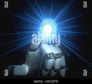 L'intelligence artificielle, l'illustration conceptuelle Banque D'Images