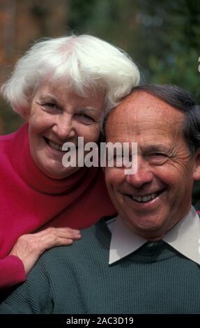 Heureux couple portrait Banque D'Images