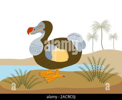 Dodo Raphus Cucullatus Retro