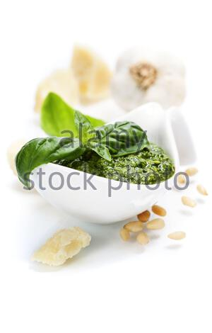 Pesto fait maison Banque D'Images