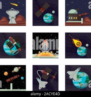 Ensemble d'icônes de l'espace Banque D'Images