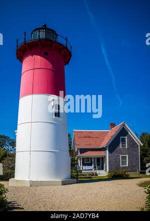 La lumière Nauset Beach à Cape Cod National Seashore, Massachusetts Banque D'Images