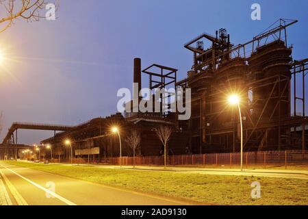 Usine industriel désaffecté Phoenix West, du haut fourneau 5, district Hoerde, Dortmund, Germany, Europe Banque D'Images
