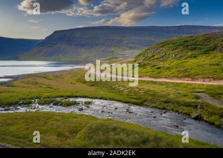 Zone de Dynjandi, Dynjandi, cascades, l'Islande Westfjords