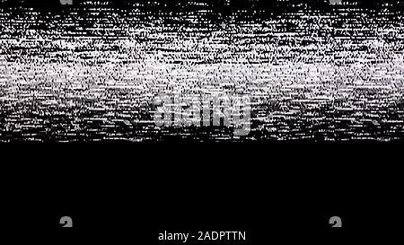 Plat du bruit statique effet glitch