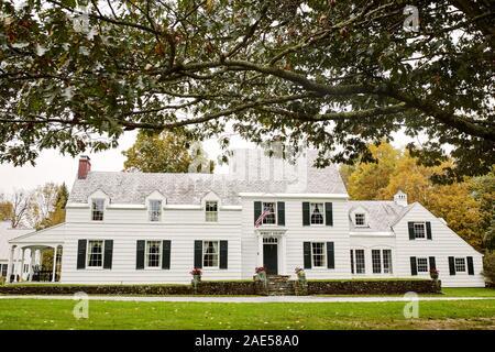 Dorset, Vermont - Octobre 1st, 2019: Extérieur de Dorset Colonie Maison sur une froide journée d'automne, dans la Nouvelle Angleterre ville de Dorset.