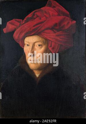 Jan van Eyck, Portrait d'un homme, auto-portrait de Jan van Eyck Jan van Eyck (1390 env - 1441) peintre flamand Banque D'Images