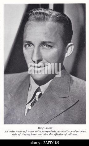 Photo en noir et blanc de Bing Crosby.