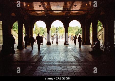 Le passage inférieur pour piétons à Bethesda Terrace, Central Park, New York City.