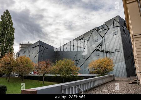 L'annexe de Daniel Libeskind Le Musée Juif de Berlin, Allemagne Banque D'Images