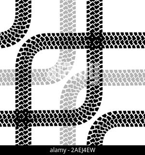 Papier peint sans traces de pneu pattern illustration vector background Banque D'Images