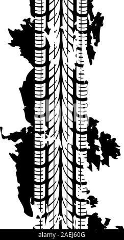 Résumé fond empreintes de pneus, vector illustration Banque D'Images