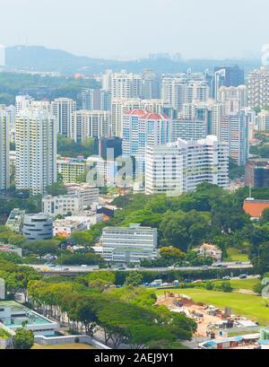 Vue aérienne du quartier vivant de Singapour, de l'immobilier , les immeubles à appartements Banque D'Images