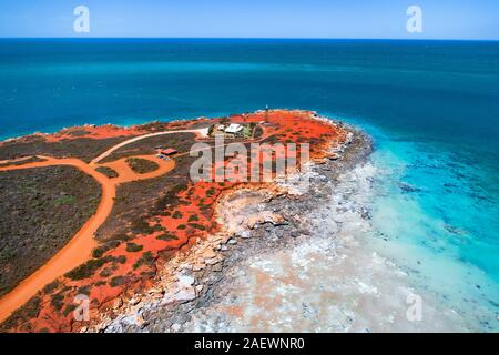 Vue aérienne de Gantheaume Point, Broome, Australie occidentale, Kimberley Ouest Banque D'Images