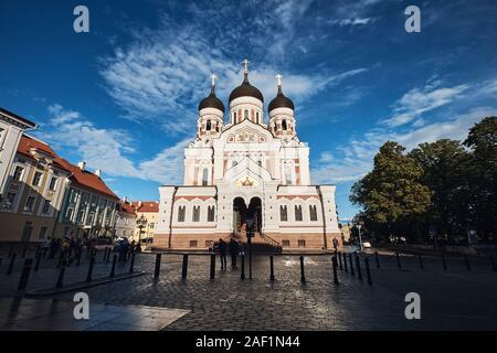 La cathédrale Alexandre Nevski, l'Église orthodoxe russe situé dans la vieille ville de Tallinn, Estonie