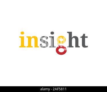 Mot-symbole insight avec deux mots bulle Banque D'Images