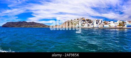 Beau village de Las Playitas,vue panoramique,l'île de Fuerteventura, Espagne.
