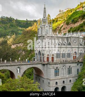 Le sanctuaire de Las Lajas (Santuario de Las Lajas) près de Ipiales en Colombie.