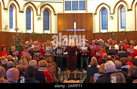 The Big Sing, Qui Fait Partie Du Week-End Victorien De Lymm, Warrington, Cheshire, Angleterre, Royaume-Uni