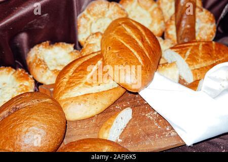 De délicieux petits gâteaux pains pain frais restaurant boulangerie Banque D'Images