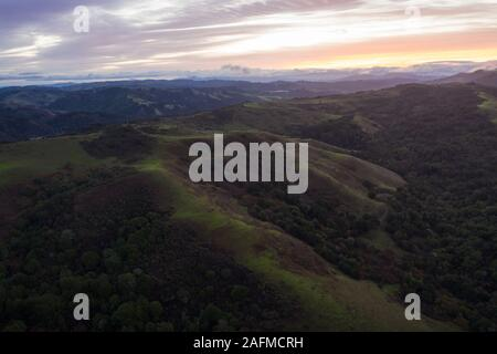 Beaux sentiers de randonnée serpentent à travers les collines de l'est pacifique, juste à l'est de la Baie d'Oakland, Berkeley, et El Cerrito dans la région de San Francisco. Banque D'Images