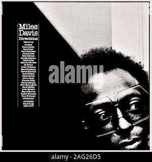 Miles Davis couverture de l'album vinyle original - Indications: enregistrements inédits (1960-1970) - 1981 Banque D'Images